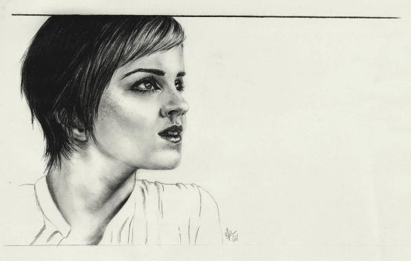 Emma Watson por crayon2papier